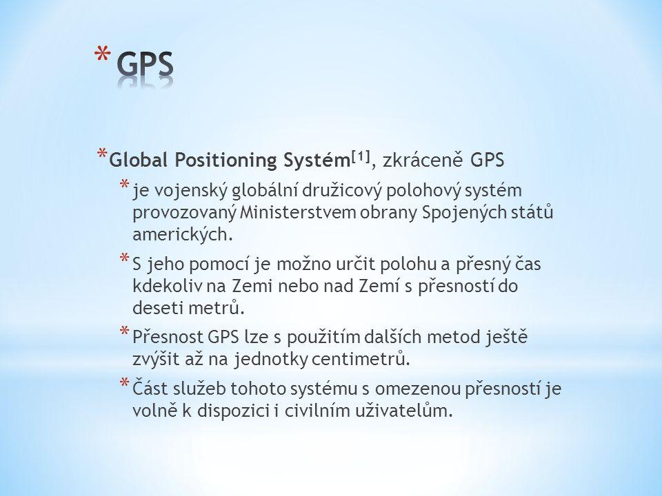 GPS Global Positioning Systém[1], zkráceně GPS